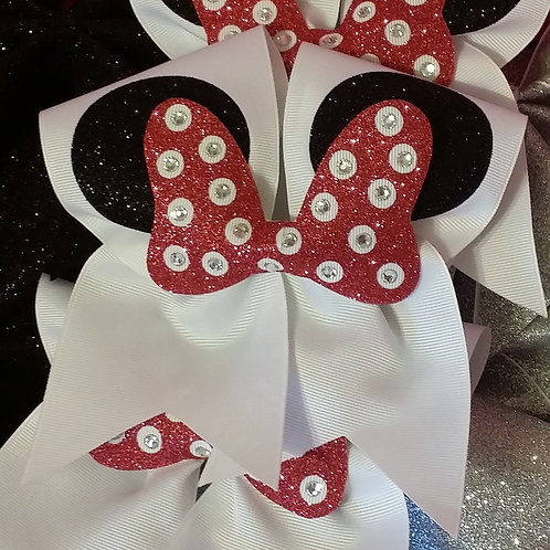 Minnie Mouse Glitter Bow
