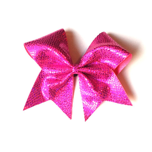 Hot Pink Snakeskin Bow