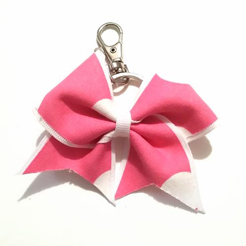 Pink Polka Dot Key Chain Bow