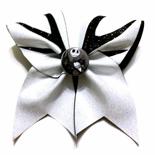 Jack Skellington Glitter Bow