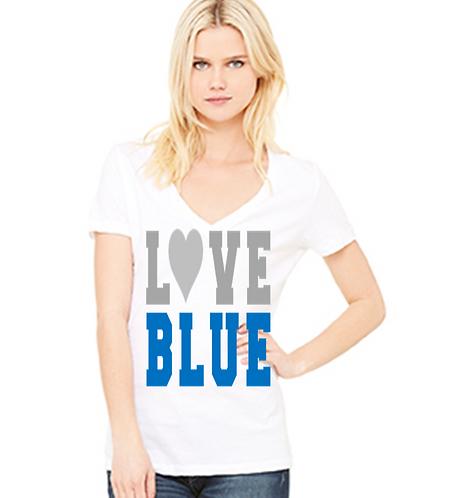 Love Blue V Neck