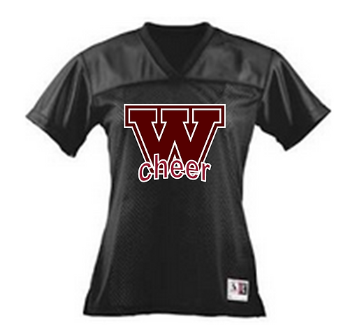 AUGUSTA LADIES' JUNIOR FIT REPLICA FOOTBALL JERSEY