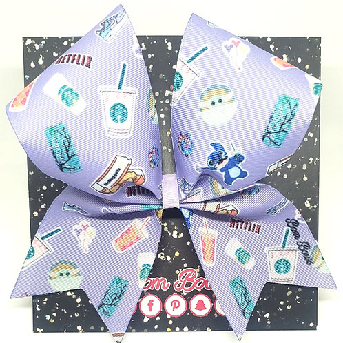 Lavender Stickers Bow
