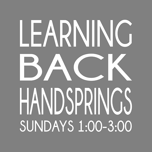 Back Handspring Class - 4 Weeks