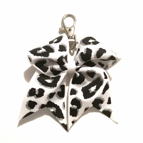 Leopard Key Chain Bow