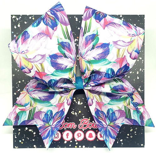Tropical Floral Bow