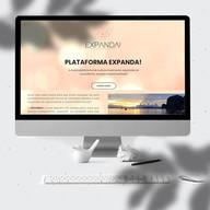 Landing Page desenvolvido para divulgar a Plataforma Expanda! para a terapeuta, facilitadora e professora holística Carla Sanchez.