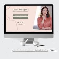 Landing page desenvolvido Carol Morgana Mentora de Desenvolvimento Pessoal Estratégico.