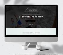 Landin Page desenvolvido para divulgação do app de cirurgia plastica Cirurgikos.