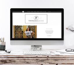 Site desenvolvido para consultora de moda Franceli Rocha.