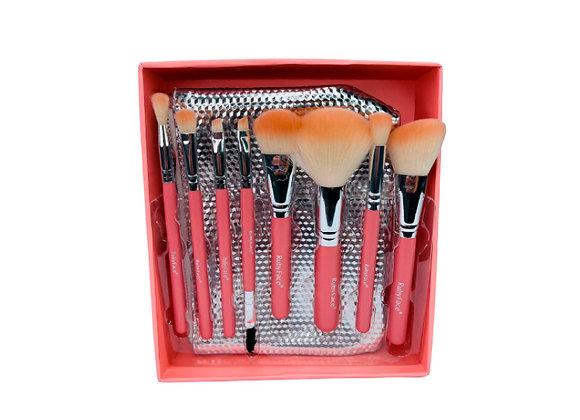Kit de Brochas + Cosmetiquera RUBY FACE