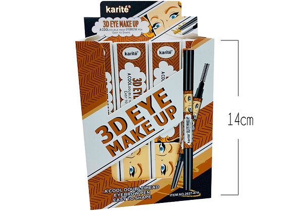 Lapiz Retractil Cafe con Cepillo Karite