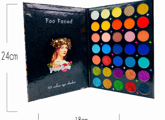 Paleta de Sombras Mix 7 Glitter 35 TN Foo Faced