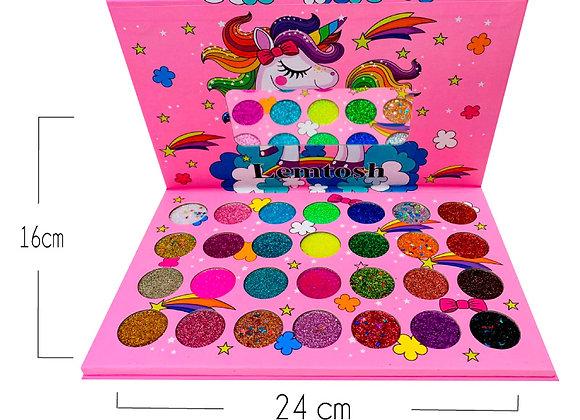 Paleta de Sombras Glitter Unicornio