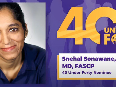Dr. Snehal Sonawane Honored with 40 Under 40 Award