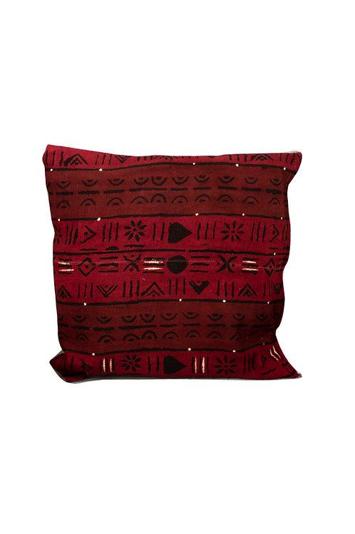 Red Bogolan cushion