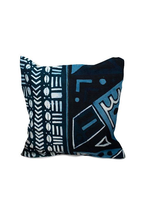 BLUE INDIGO Bogolan cushion