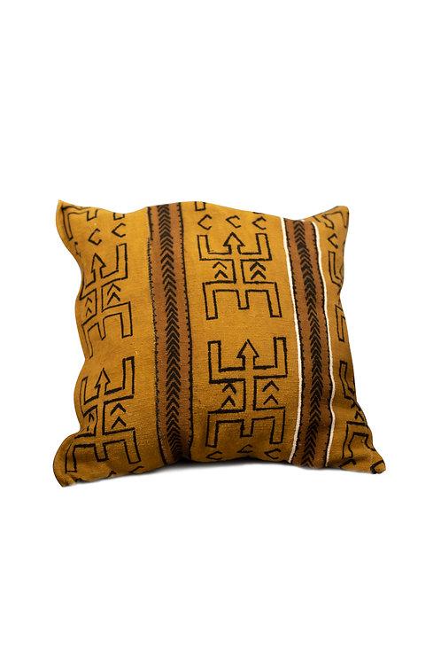 BROWN Bogolan cushion