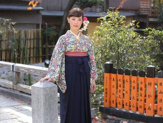袴で撮影♪