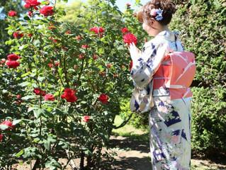 植物園の薔薇に囲まれて♡