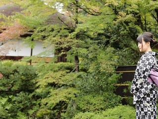 雨の京都で大人な雰囲気♡