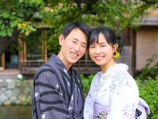 浴衣で京都デート♡