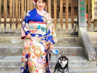 愛犬と振袖撮影♡♡
