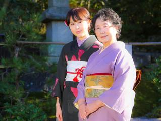 おばあ様と一緒に着物写真☆