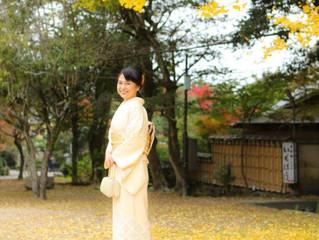 紅葉が綺麗な円山公園と、美しい訪問着姿☆