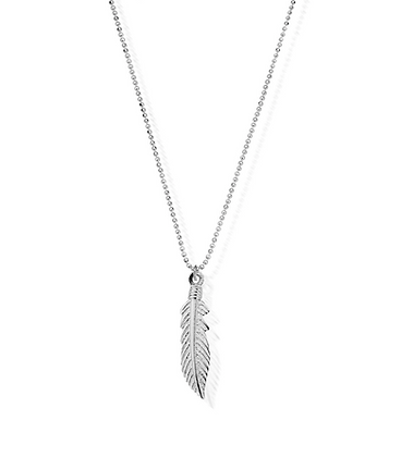 ChloBo Diamond Cut Chain With Feather Pendant