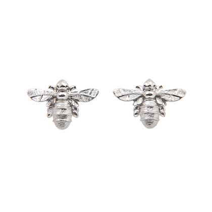 Lydias Bees Stud Earrings Silver
