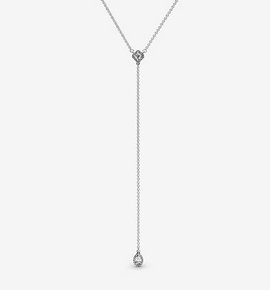 Waterford Sterling Silver Lariot Drop Necklace