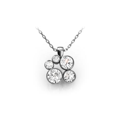 18ct White Gold or Platinum & Diamond Pendant 0.50ct