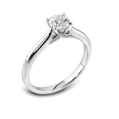 Platinum Brilliant cut Diamond Solitaire ring.