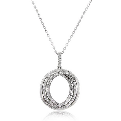 Waterford Rose Gold Double Circle Pendant