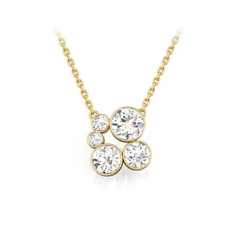 18ct Yellow Gold & Diamond Pendant 1.00ct