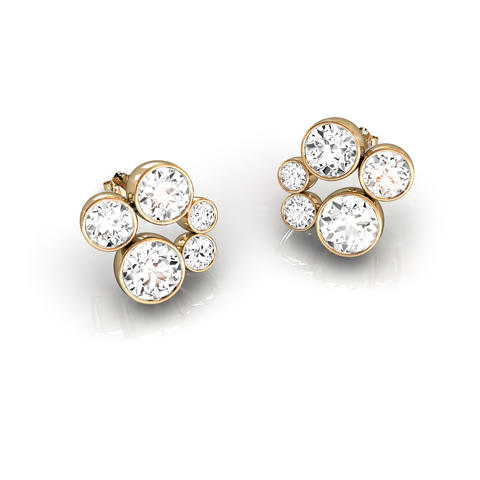 18ct Yellow Gold & Diamond Earrings 1.00ct