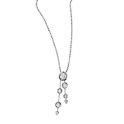 18ct White Gold and Diamond drop pendant