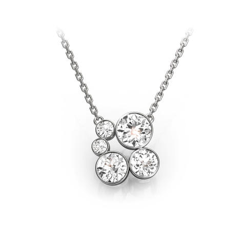 18ct White Gold or Platinum & Diamond Pendant 1.00ct
