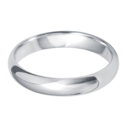 18ct White gold Men's Wedding band