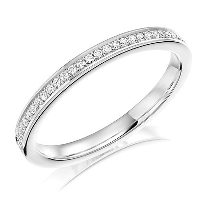 Diamond half Pavé set Wedding ring