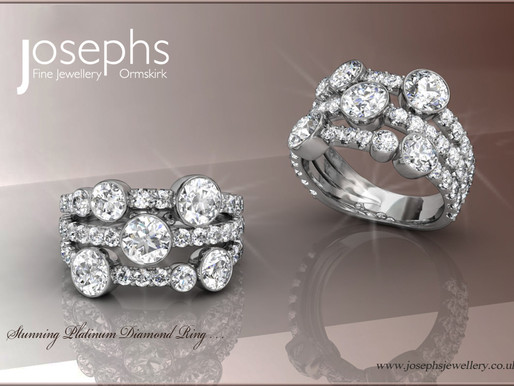Diamonds passed down generations to make a stunning contemporary ring.