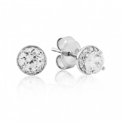 Waterford Small Cluster Round Stud Earring