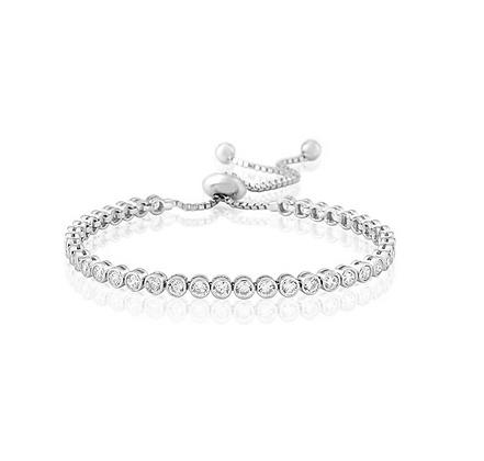 Waterford White Cubic Zirconia Tennis Bracelet