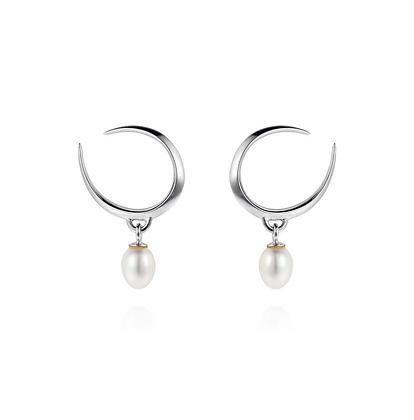 Claudia Bradby Lagertha Pearl Stud Earrings