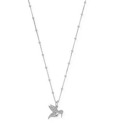 ChloBo Bobble Chain Hummingbird Necklace