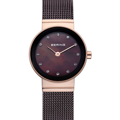 Bering Classic Rose Gold Milanaise watch