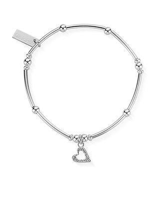 ChloBo Mini Noodle Ball Patterned Heart Bracelet