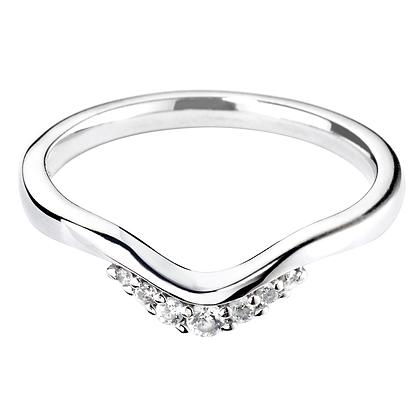 Diamond Tiara shaped Wedding ring