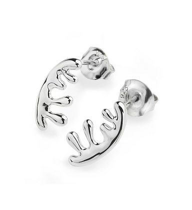 Lucy Q Silver Wave Studs